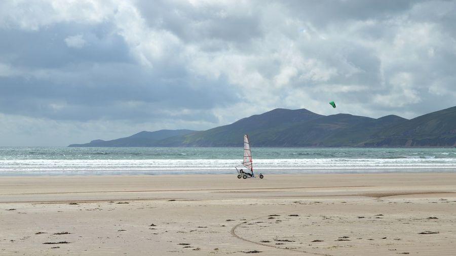 Landsailing on inch beach