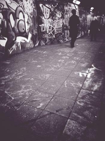 Undertonez Andrographer Blackandwhite Peoplewalkingpastwalls Writing On The Walls