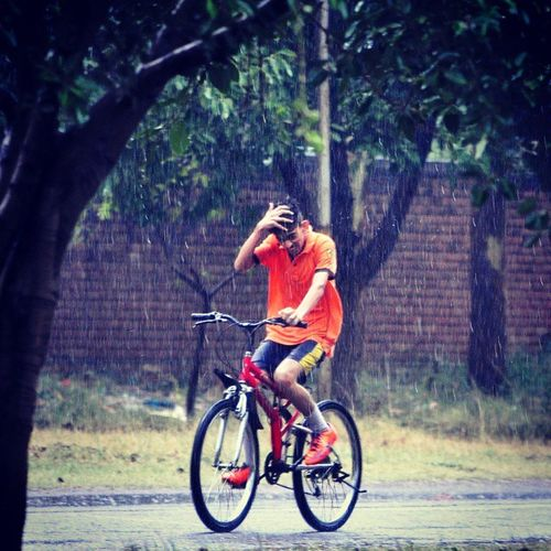 Hindustan_times Drops_of_happiness A boy go through the rain in Chandigarh Rain_in_Chandigarh Weather Photooftheday