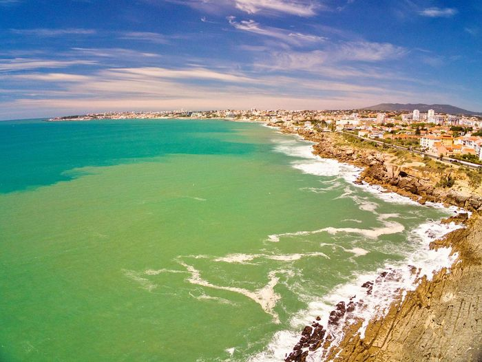 Aerial view View From Above Multi Colored Top Perspective Top View Portugal Cascais Estoril EyeEm Selects Drone Photography Droneshot Aerial View Water Sea Beach Tree Aerial View Rural Scene Sand Sky Landscape Horizon Over Water Seascape Coastline Rocky Coastline Sandy Beach Coastal Feature Calm Shore Wave Coast