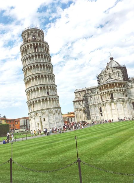 Architecture Grass Building Exterior Built Structure Travel Destinations Tourism Famous Place Lawn Leaning Tower Of Pisa Travel Large Group Of People Sky Tower Tourist International Landmark History Capital Cities  Façade City Outdoors Pisa Towers Italy Italia Tuscany
