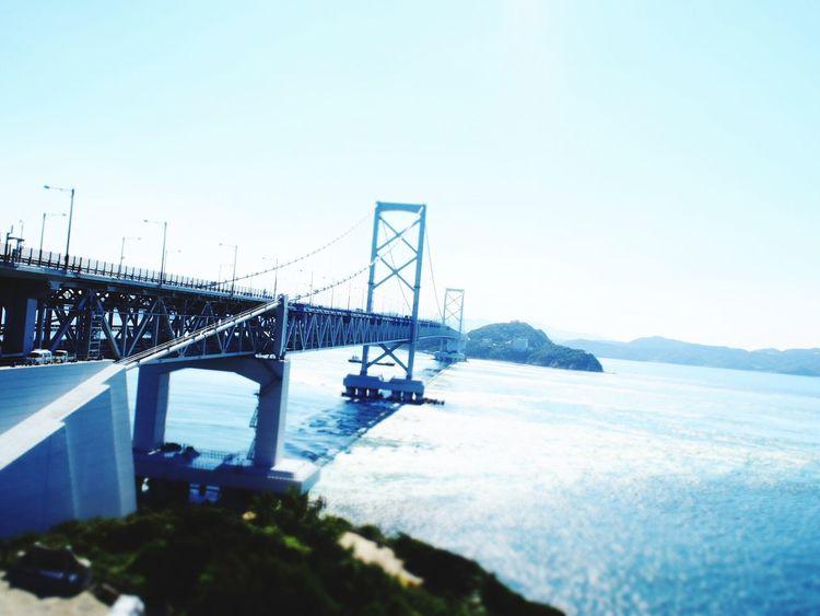 鳴門海峡大橋 鳴門海峡大橋 Bridge Sea Awaji Awajishima Sun Sunny Sunny Day Sky Clouds And Sky