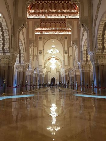 Morocco Arch Architectural Column Architecture Built Structure Day Illuminated Indoors  Mosque Mosque Interior No People Reflection