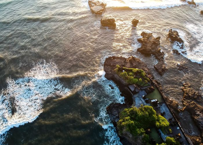 Pura Gede Batu Luhur Ngaus. A Balinese Temple. Drone  Dronephotography Dji Spark Waves, Ocean, Nature Power Power In Nature INDONESIA ASIA Bali, Indonesia Bali Travel Destinations Travel Vacations Pura Hindu Temple Hindhu Temple Temple Water Rock - Object Nature Sea High Angle View Beauty In Nature Beach Day Outdoors No People Wave Scenics Tranquility
