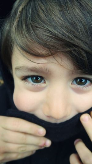 Looking At Camera Portrait Human Face Human Eye Headshot One Person Childhood Child Close-up Hazel Eyes  Outdoors School Time  Son