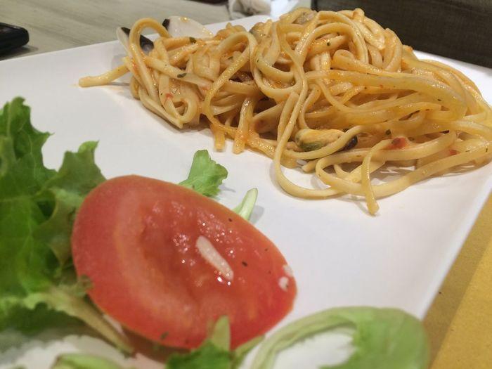 Italian delicacy #italiancuisine #italianfood #linguine #pasta #ribbon Pasta Food Garnish High Angle View Italian Food Meal Pasta Serving Size Temptation