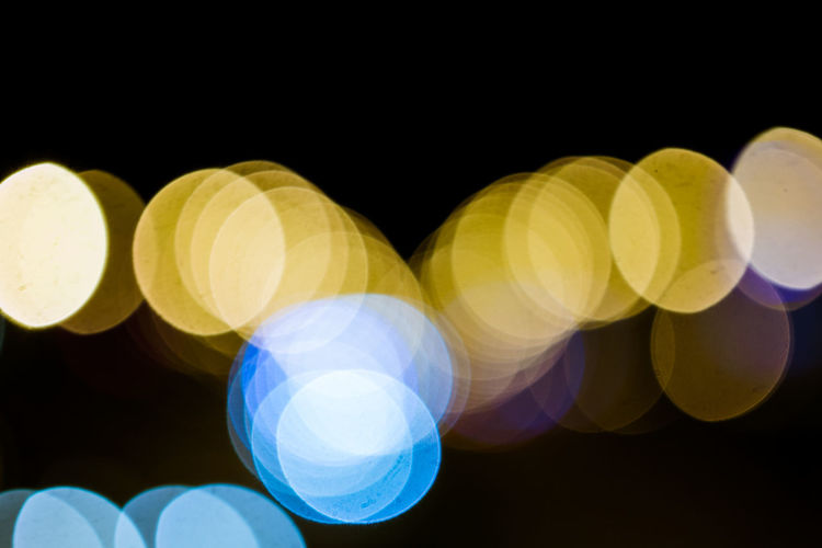 Belarus Minsk Circle Defocused Electricity  Geometric Shape Glowing Illuminated Lens Flare Light Light - Natural Phenomenon Lighting Equipment Multi Colored Night No People Shape