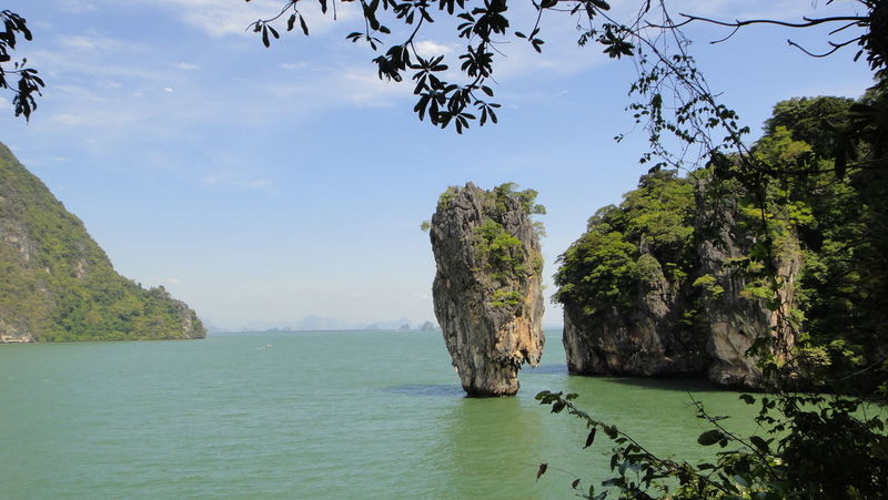 Day Nature Outdoors Small Isles Small Island Isle Sunny Trees Funny Island Water Nofilter No People Mountains Thailand James Bond James Bond Island