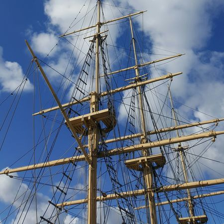 "Summer Cruise in Karlskrona 😉, Full-rigger ""Jarramas"" (Det.), Marinmuseum, Karlskrona (Sweden) Sky Cloud - Sky Low Angle View Ship Rigging Sailing Ship Sweden Karlskrona Day No People Scandinavia Exhibit  Museum Travel Travel Destinations Traveling Transportation"