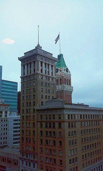 Eye4photography  My Photography Taking Photos ❤ Building Photography Buildings Architecture Architecture Photography Buildings & Sky American Flag Oakland Tribune Tower Oakland Tribune