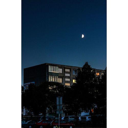 Nightphotography Sky Moon Evening Sky