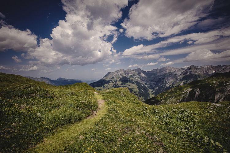 Alpen Alpenpanorama Alpenwelt Aplen Berge Cloud - Sky Engelberg Jochpass Landscape Melchsee-frutt Mountain Nature No People Outdoors Scenics Schweiz Schweizer Alpen Schweizerlland Sky Swiss Swiss Alps Swiss Mountains Swissalps Wanderlust Wandern