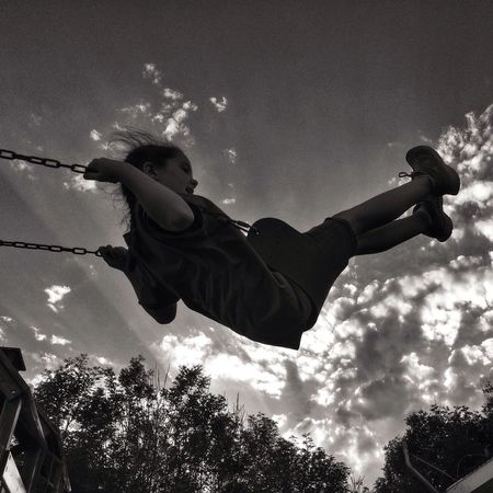 Swing to the sky IPhoneography Black And White EyeEm Best Edits IPSStory