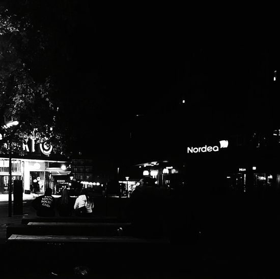 Friday night City City Life City Lights Blackandwhite Nordea Mcdonalds Sweden Sverige Black Minimalism Contrast Blackandwhite Photography Water Information