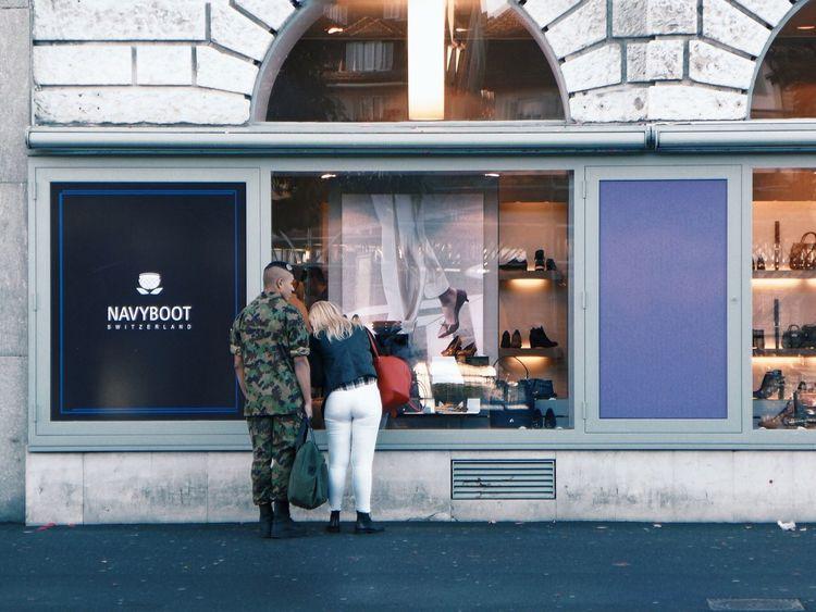 Navy Boot The Street Photographer - 2016 EyeEm Awards Street Streetphotography Street Photography Navy Soldier Switzerland Leicacamera Shopping ♡ Boot Shoes Live Love Shop