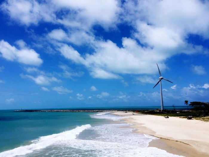 Be. Ready. Wind Power Sea Wind Turbine Alternative Energy Sky Environmental Conservation Cloud - Sky Windmill Water Scenics Blue Fuel And Power Generation Nature Day Beach Beauty In Nature Outdoors No People Horizon Over Water