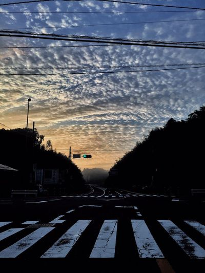 Nature_collection いつかの空 Taking Photos Eye Em Nature Lover Good Morning Clouds And Sky Sunrise On The Road