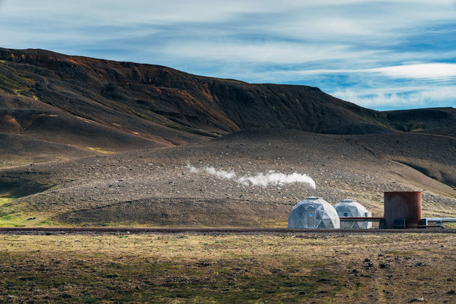 Brown Fantasy Green Iceland Landscape Mountain Red Rock Sci-fi Science Fiction Station