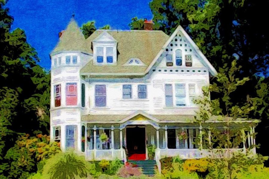 Architecture Building Exterior Built Structure House Sky Paint Edit Vibrant Colors