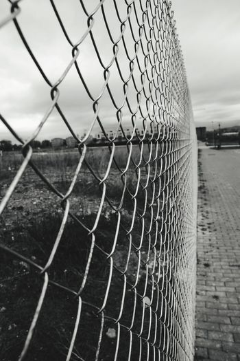 Chainlink Fence Protection Outdoors No People Vitoria / Gasteiz Black And White Friday Black And White Friday