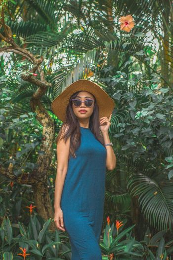 in the nature EyeEm Selects One Person Fashion Plant Tree Sunglasses The Modern Professional Young Adult Women Portrait Clothing Nature Long Hair Beautiful Woman EyeEmNewHere