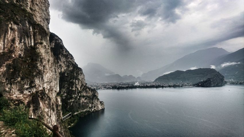 Ponale cliff path Rainy Day Cliff Path Ponale Water Mountain Lake Sky Mountain Range Landscape Cloud - Sky Rocky Mountains