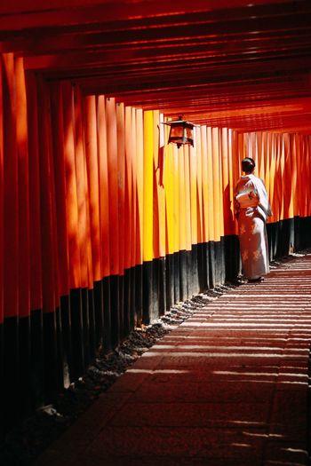 Inari Shrine Japan Kimono Traditional Clothing Beautiful