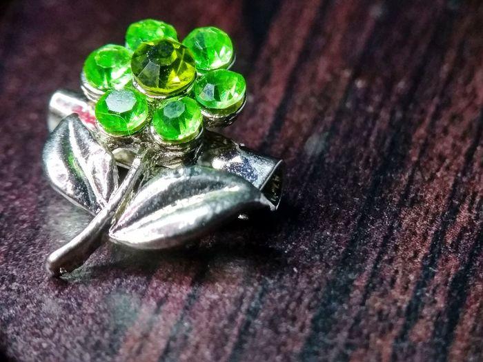 Flower brooch Brooch Close Up Brooch Brooch With Flowers Flower Brooch Brooch Pin Decorative Arts Beads Beads Drop Jewelry Decorative Close-up Green Color