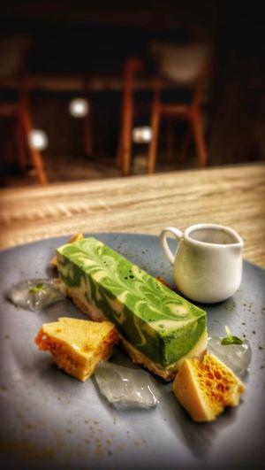 Tofu cheesecake #penang #rootsdessertscafe Plate SLICE Close-up Food And Drink Matcha Tea