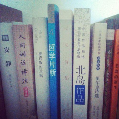 去書店撞大運了,買到了克爾凱郭爾和北島,還有尼采詩集。