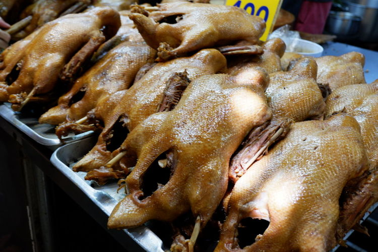 Close-up Duck Ducklings Ducks Food Food And Drink For Sale Freshness Healthy Eating High Angle View Indoors  Indulgence Large Group Of Objects Market Meat No People Pot-stewed Duck Ready-to-eat Retail  Seafood Still Life Tray Vertebrate Wellbeing White Meat