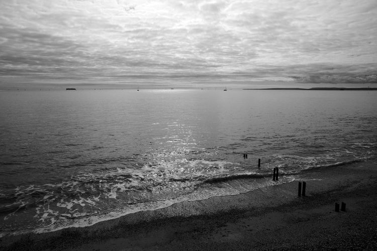 Gathering Around The Sun Black & White Eastney Eastney Beach Beach Beauty In Nature Blackandwhite Cloud - Sky Day Horizon Over Water Nature Outdoors Scenics Sea Sky Tranquil Scene Tranquility Water Wave