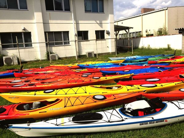 Multi Colored Architecture No People Sea Kayak Outdoors Day
