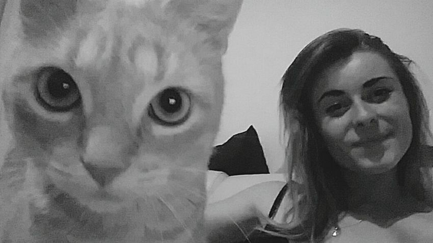 Selfie✌ Selfie Cat Selfiecat 🐱 Selfiecat My Baby Love ♥ Beautifulcat Mycat❤ Lovelovelove Tropdamour Front View Black&white Black And White Portrait Tranquility Photography Looking At Camera EyeEm Selects Cat Babycat💕🐾😻