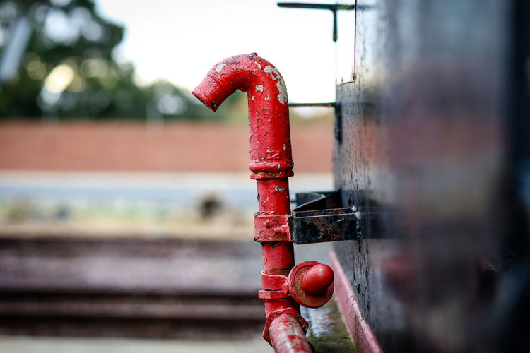 Steam train Machinery The Week on EyeEm Close-up Day Metal No People Outdoors Pipe - Tube Red Rusty Steam Train Train