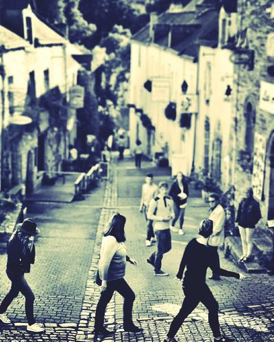 Abbey Road impression? Black And White Photography Brittany Rochford En Terre Brittany Silhouettes People And Places Candid Photography Street Photography Street Observation