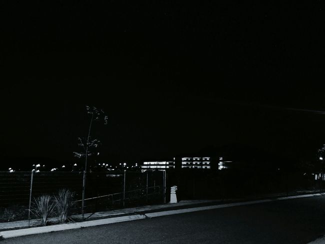 Night Scary Dark Black & White Black And White Road Scary Night
