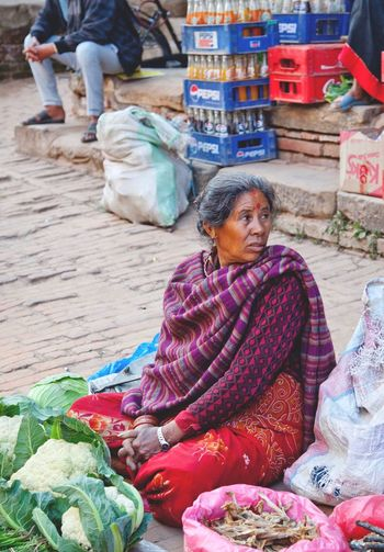 Streetmarket Streetphotography Adult Women Sitting Senior Adult People Business Selling Retail  Market Real People 2018 In One Photograph International Women's Day 2019