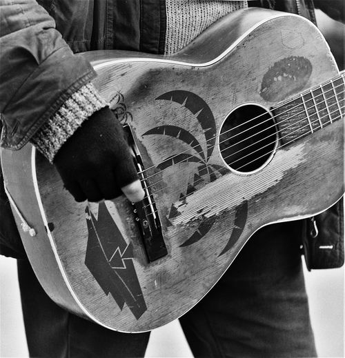 guitarist Accoustic Guitar Arts Culture And Entertainment Close-up Day Focus On Foreground Guitar Guitarist Holding Human Body Part Indoors  Lifestyles Men Monochrome Music Musical Equipment Musical Instrument Musical Instrument String One Person Player Playing Real People String Instrument