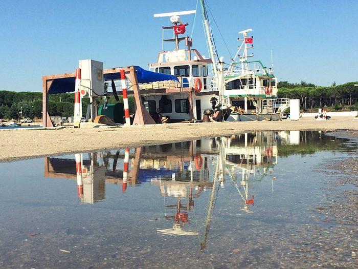 Reflection Ship Vessel Mirror Kapatepe