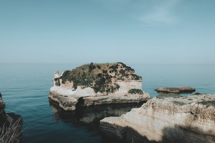 Water Sea Beauty In Nature Horizon Over Water Tranquility Sky Scenics - Nature Horizon Tranquil Scene Rock Nature Outdoors No People