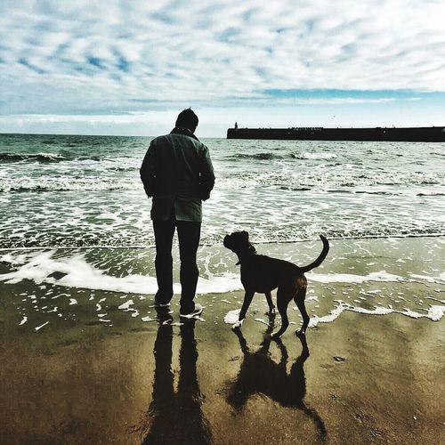 Man and dog - Kent