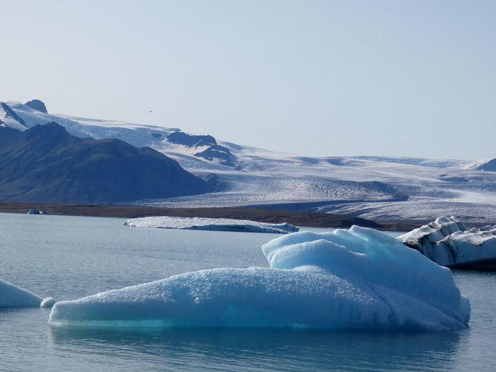 Melting blue ice