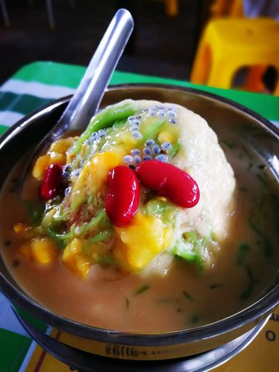 Malaysia Business Finance And Industry Dessert Porn Ice Crystals Ice Desserts Dessert CendolBakar Cendol Durian Cendol Close-up Yellow Freshness Ready-to-eat Healthy Eating No People Food Food And Drink Sweets