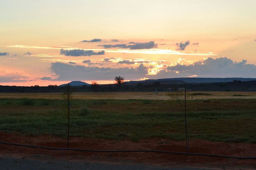 Farmland South Africa Sunset Clouds And Sunset  Alone Time