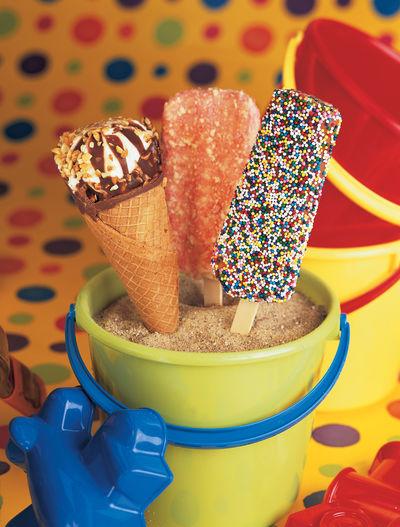 Close-up of ice cream cake
