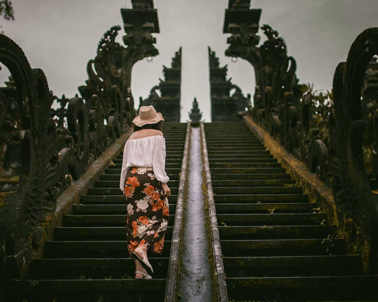 Besakih Temple, Bali Besakih Temple Bali Bali, Indonesia Temple Rear View People Outdoors Back View Of Girl Women Of EyeEm One Woman Only Architecture Architecture_collection Architectural Detail Floral Steps Staircase Climbing Finding New Frontiers The Street Photographer - 2017 EyeEm Awards The Architect - 2017 EyeEm Awards An Eye For Travel
