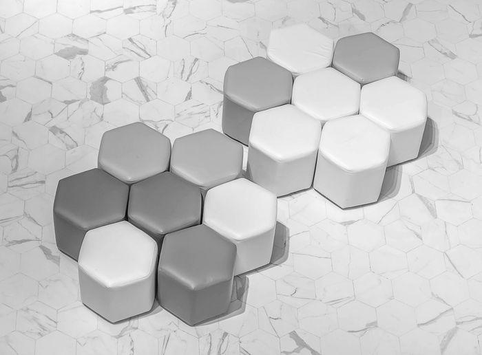 Chair Chairs Design Geometric Shape Hexagon High Angle View No People Shape