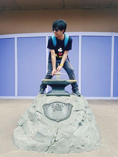 Sword In The Stone Disney Asian  EyeEm Selects Women Working Artist Art Posing ArtWork Sculpture First Eyeem Photo