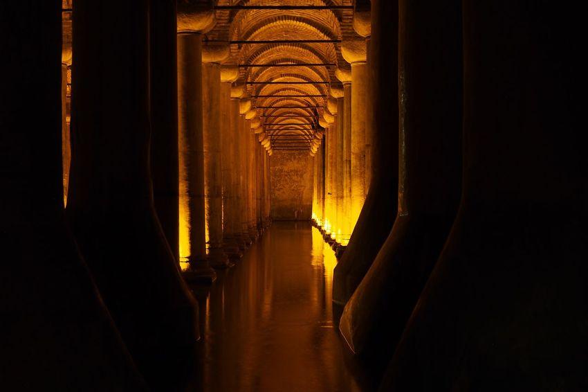 The Basilica Cistern Turkey Istanbul Sultanahmet Cistern Basilica Hagia Sophia